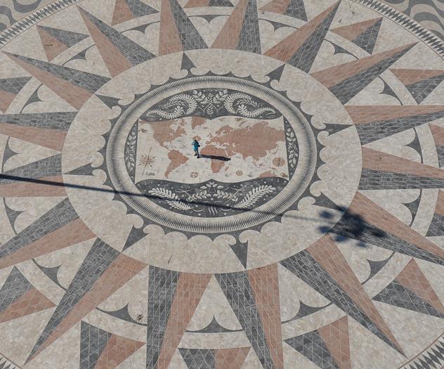 Mapa do Mundo em Belém Lisboa
