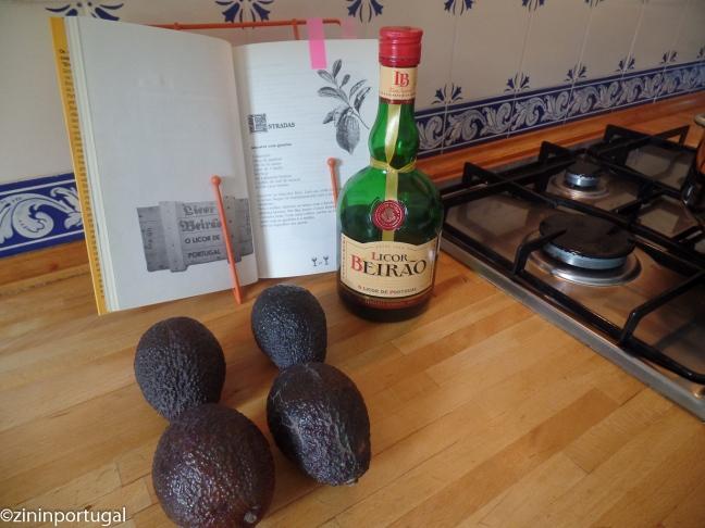 Avocados voor gerechtje met Licor Beirão