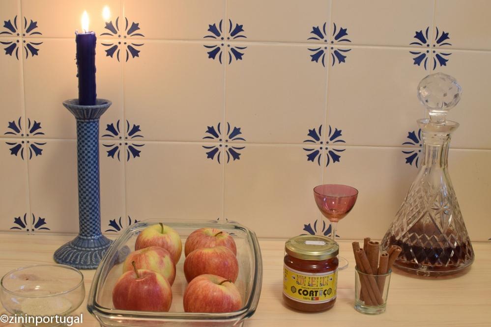 Maçã assada: in oven gebakken appel