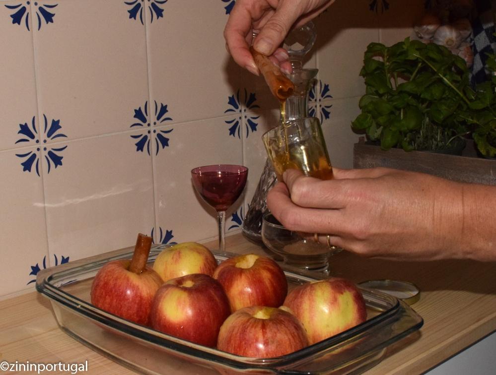 Maçã assada: in de oven gebakken appel