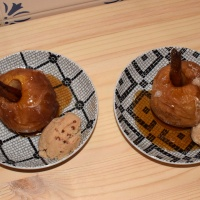 Prima nagerecht: maçã assada, een in de oven gegaarde appel!