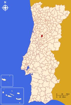 Santa Comba Dão mapa